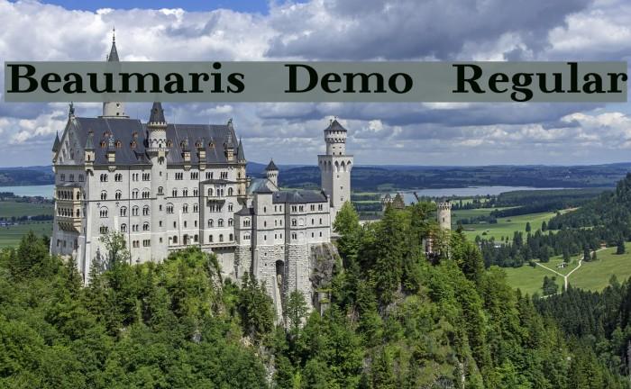 Beaumaris Demo Regular Font examples