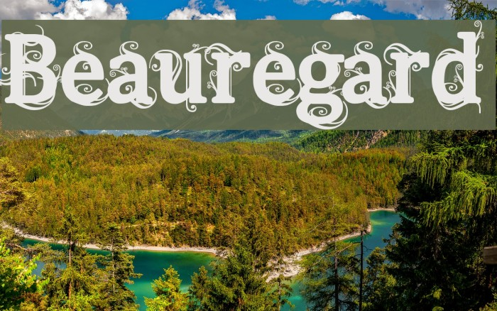 Beauregard Fonte examples