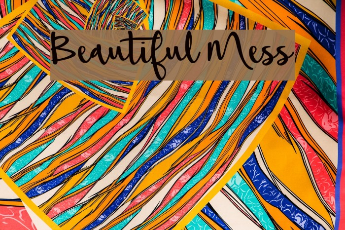 Beautiful Mess Font examples