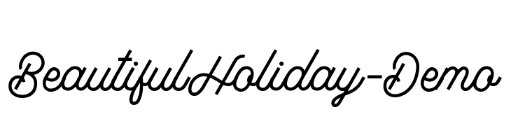 BeautifulHoliday-Demo  Free Fonts Download