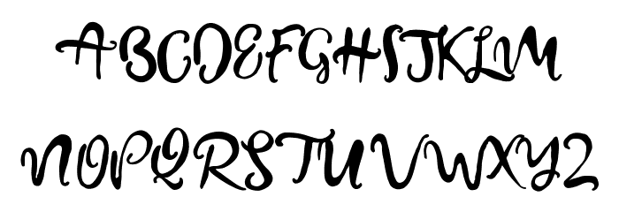 BeautifyScript フォント 大文字