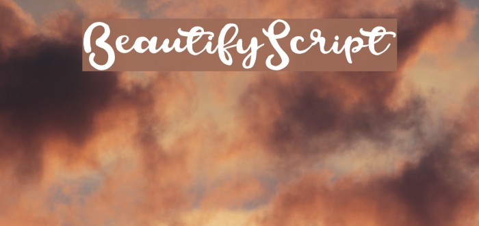BeautifyScript 字体 examples