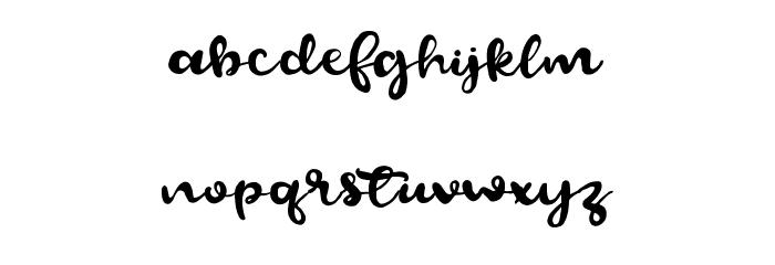 BeautifyScript フォント 小文字