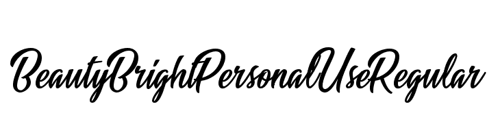 Beauty Bright Personal Use Regular  font caratteri gratis