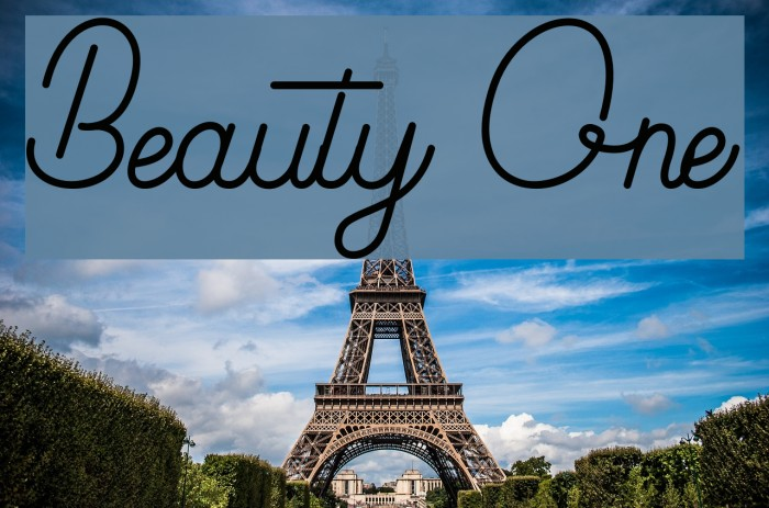 Beauty One Font examples