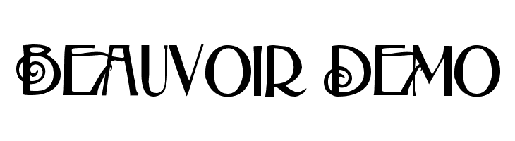 Beauvoir Demo  Free Fonts Download