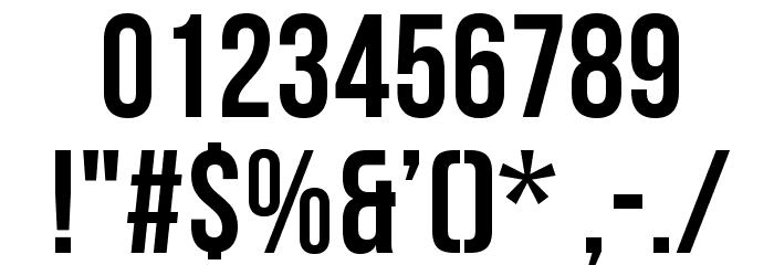 Bebas Neue Font OTHER CHARS