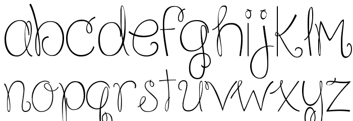 Because I am Happy Regular Шрифта строчной