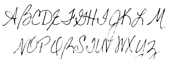 Becks Font UPPERCASE