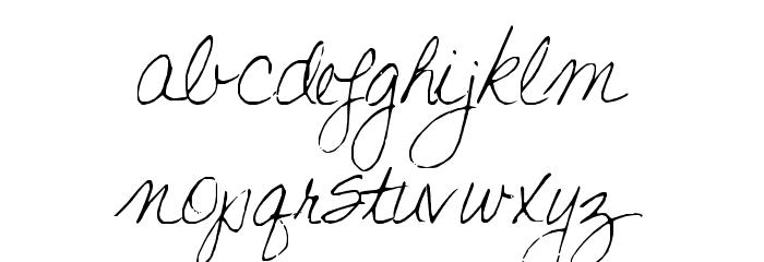 Becks Font LOWERCASE