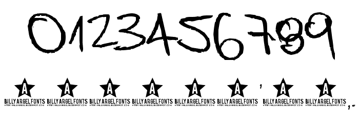 Bedspread Assassin Font OTHER CHARS