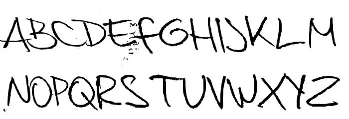 Bedspread Assassin Font UPPERCASE