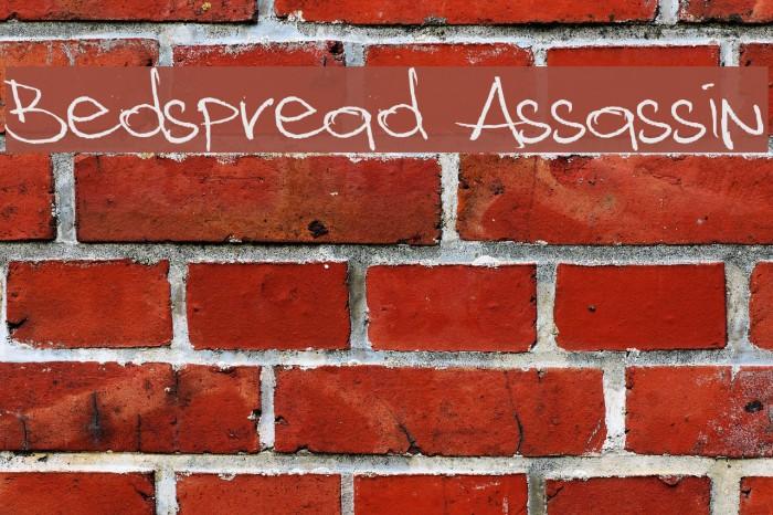 Bedspread Assassin Font examples