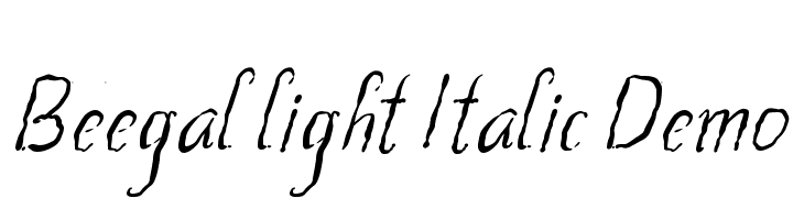 Beegal light Italic Demo Schriftart