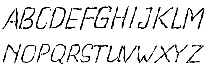 Beegal light Italic Demo Fonte MAIÚSCULAS