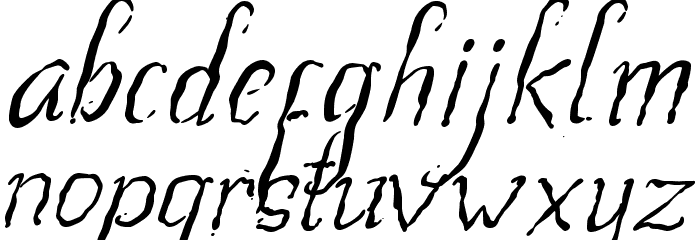 Beegal light Italic Demo Fonte MINÚSCULAS