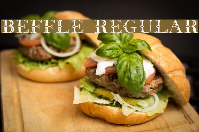 Beffle Regular Font examples