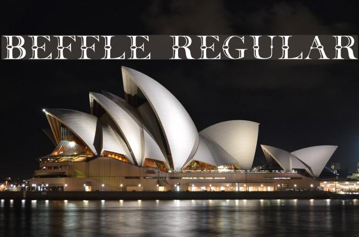 Beffle Regular Fonte examples