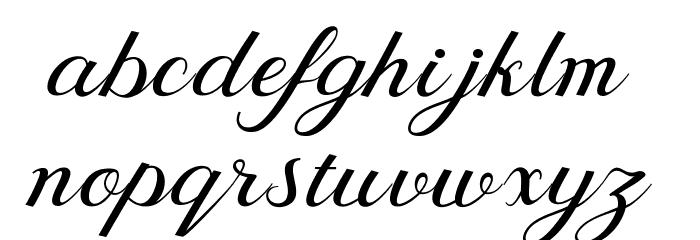 BehindScript Шрифта строчной