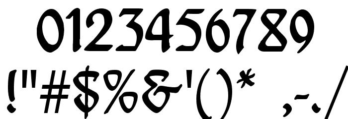 Behrensschrift Font OTHER CHARS