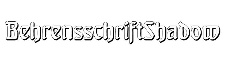 BehrensschriftShadow  Descarca Fonturi Gratis
