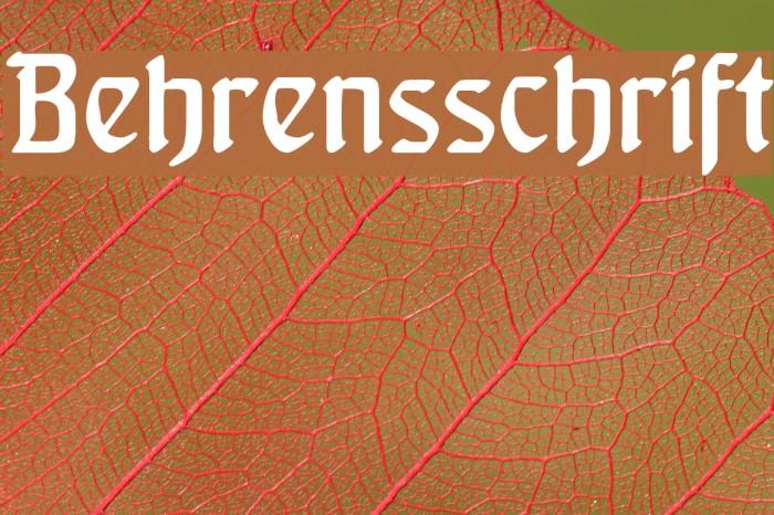 Behrensschrift Font examples