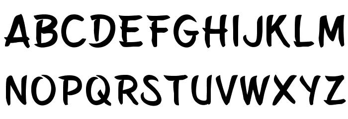 Belepotan フォント 大文字