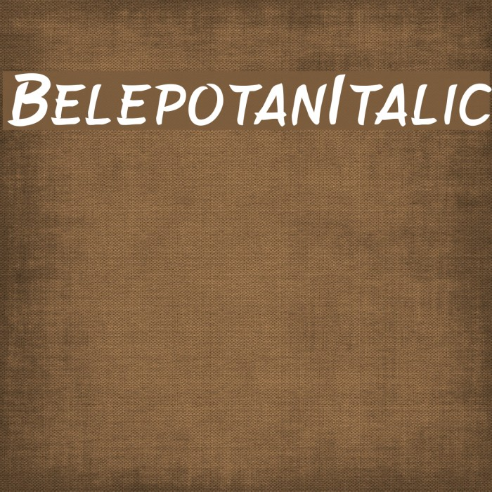 BelepotanItalic フォント examples