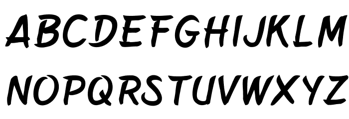 BelepotanItalic Polices MINUSCULES