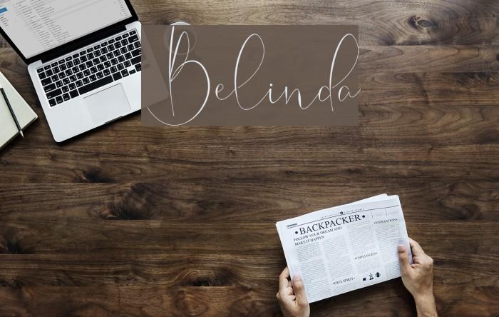 Belinda Schriftart examples