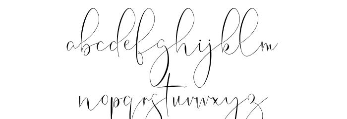 Belinda Schriftart Kleinbuchstaben