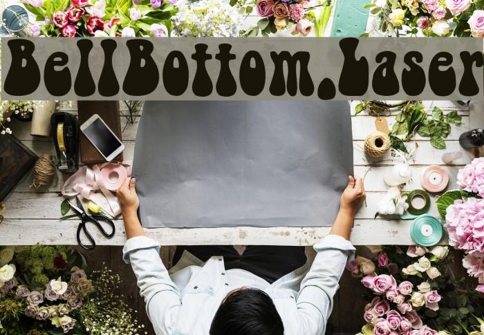 BellBottom.Laser Font examples