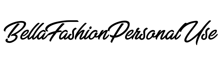 Bella Fashion Personal Use  Font