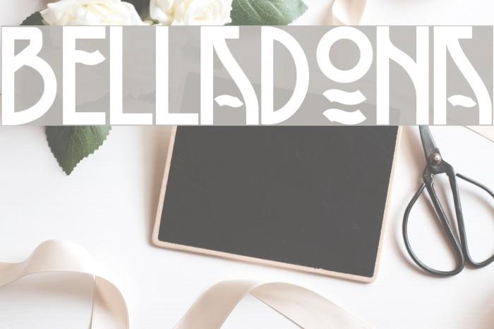 Belladona Font examples