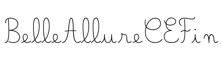 Belle Allure CE Fin  baixar fontes gratis
