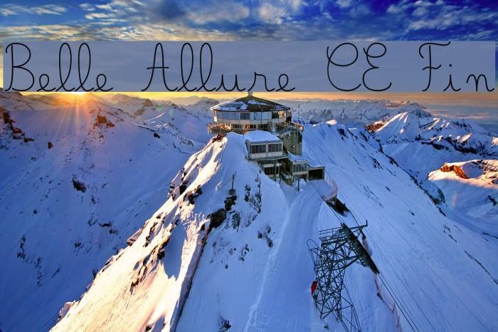 Belle Allure CE Fin Fonte examples