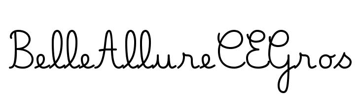 Belle Allure CE Gros  baixar fontes gratis