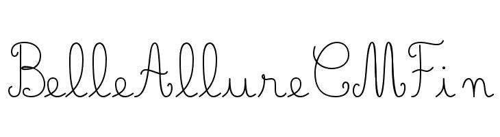 Belle Allure CM Fin  baixar fontes gratis
