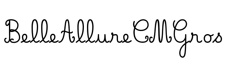 Belle Allure CM Gros  baixar fontes gratis