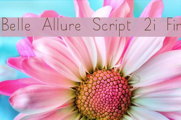 Belle Allure Script 2i Fin Fonte examples