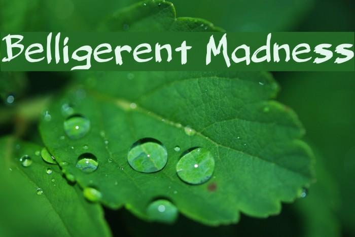 Belligerent Madness لخطوط تنزيل examples