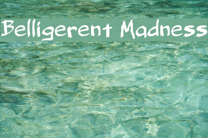Belligerent Madness Font examples