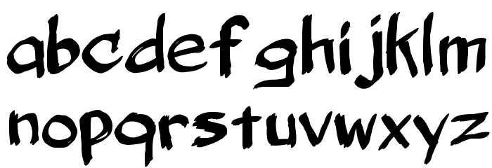 Belligerent Madness Font LOWERCASE