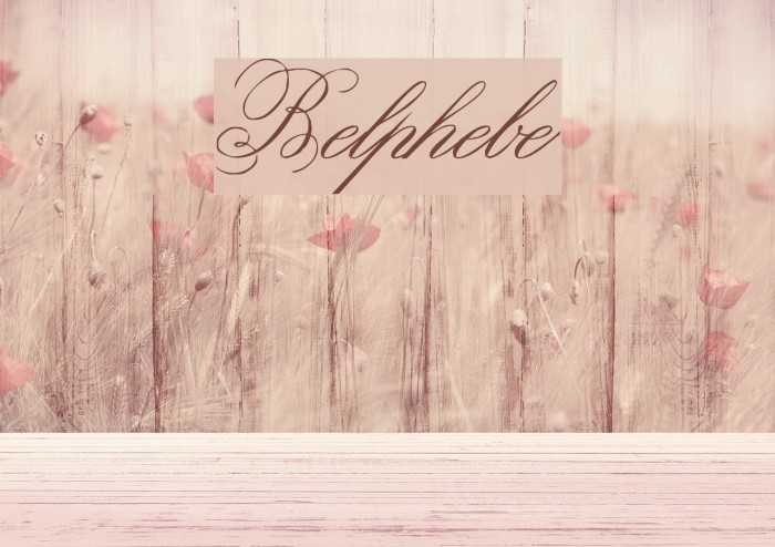 Belphebe Fonte examples