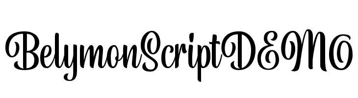 BelymonScriptDEMO  Free Fonts Download