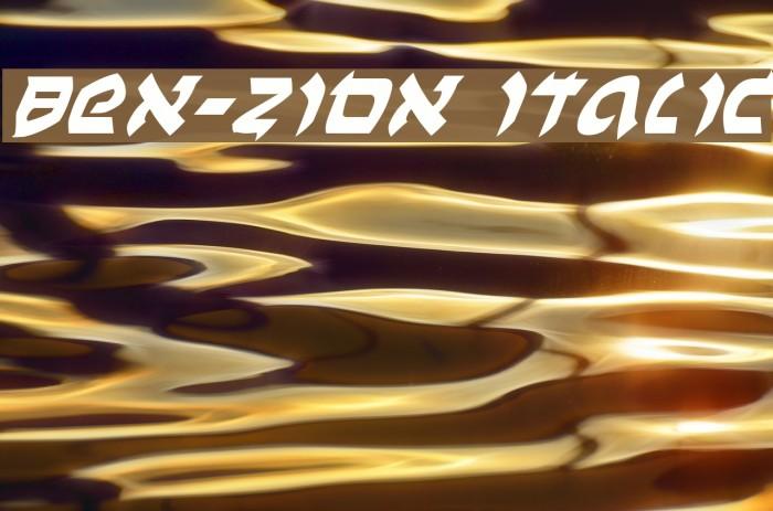 Ben-Zion Italic Font examples