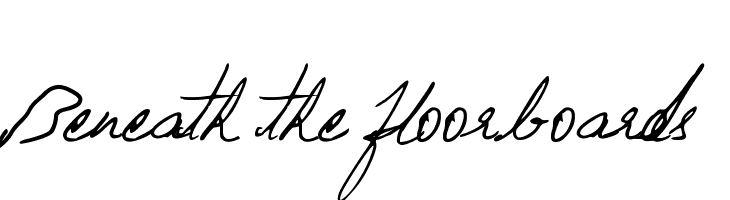 Beneath the floorboards  Скачать бесплатные шрифты