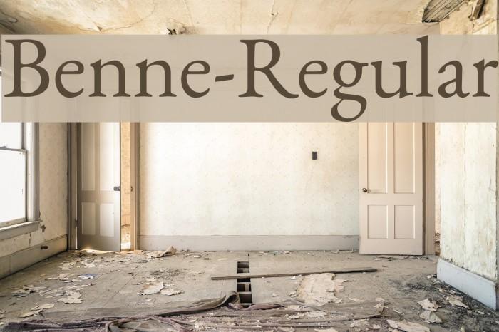 Benne-Regular Fonte examples
