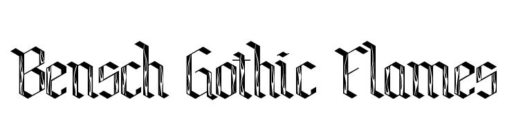 Bensch Gothic Flames  Descarca Fonturi Gratis
