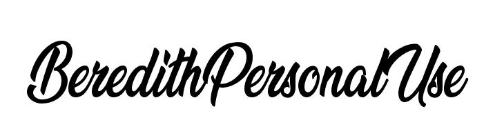Beredith Personal Use  baixar fontes gratis